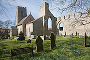 Ruins of the Augustinian Priory and All Saints church, Weybourne, Norfolk, England