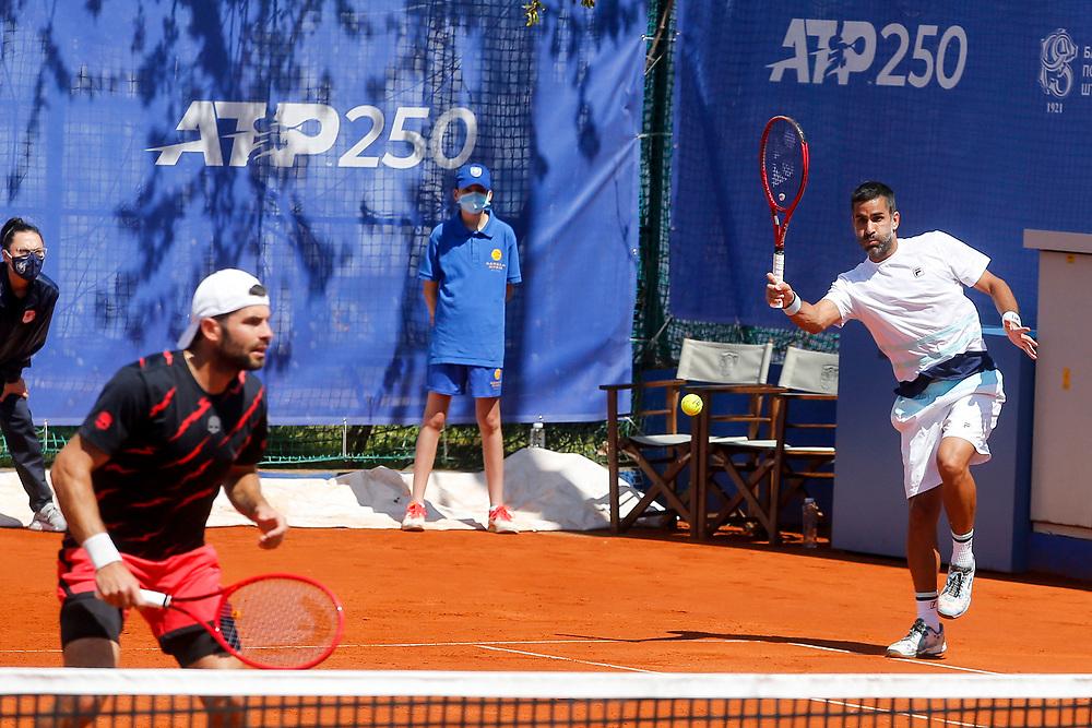 Tennis-ATP Serbia Open Belgrade 2021-<br /> Tomislav Brkic (BIH)-Nikola Cacic (SRB) v Simone Bolelli (ITA)-Maximo Gonzales (ARG)<br /> Beograd, 21.04.2021.foto: Marko Djokovic/Starsportphoto ©