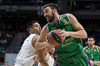 Real Madrid Felipe Reyes and Unicaja Dejan Musli during Turkish Airlines Euroleague match between Real Madrid and Unicaja at Wizink Center in Madrid, Spain. November 16, 2017. (ALTERPHOTOS/Borja B.Hojas)