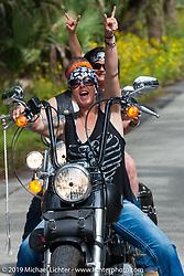 Riding Tomoka State Park during Daytona Bike Week. FL, USA. March 11, 2014.  Photography ©2014 Michael Lichter.