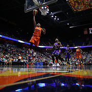 UNCASVILLE, CONNECTICUT- JULY 15:  Alyssa Thomas #25 of the Connecticut Sun scores two points with a lay up  during the Los Angeles Sparks Vs Connecticut Sun, WNBA regular season game at Mohegan Sun Arena on July 15, 2016 in Uncasville, Connecticut. (Photo by Tim Clayton/Corbis via Getty Images)