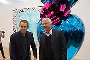 JEFF KOONS; LARRY GAGOSIAN  Frieze. Regent's Park. London. 17 October 2013