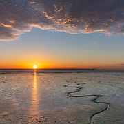 Sunset over the Humber, Yorkshire