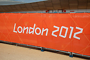London, UK. Thursday 9th August 2012. London 2012 Olympic Games Park in Stratford. Branding can be seen everywhere.
