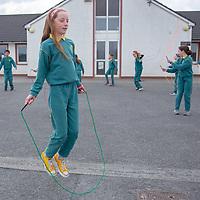 Edith Ni Eochaí from Gaelscoil Mhíchíl Cíosóg Ennis with their Jessies Project Skipping ropes