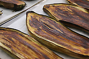 Grilled aubergine slices