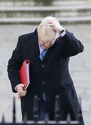 © Licensed to London News Pictures. 29/11/2016. London, UK. Secretary of State for Foreign and Commonwealth Affairs Boris Johnson arriving in Downing Street to attend a cabinet meeting this morning. Photo credit : Tom Nicholson/LNP