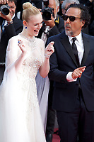 Elle Fanning and Alejandro Gonzalez Inarritu at the closing ceremony and The Specials film gala screening at the 72nd Cannes Film Festival Saturday 25th May 2019, Cannes, France. Photo credit: Doreen Kennedy