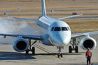 Air Canada Embraer 190 engine start
