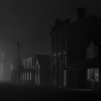 Main Street in fog<br />