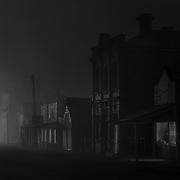 Main Street in fog<br /> Natimuk<br /> 2011
