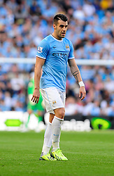 Manchester City's Javi Garcia - Photo mandatory by-line: Dougie Allward/JMP - Tel: Mobile: 07966 386802 22/09/2013 - SPORT - FOOTBALL - City of Manchester Stadium - Manchester - Manchester City V Manchester United - Barclays Premier League