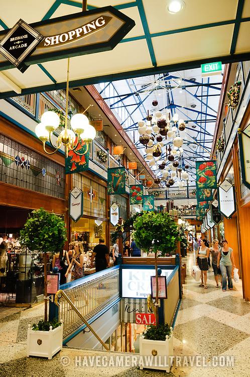 Brisbane Arcade, and old, ornate shopping mall in Brisbane City.