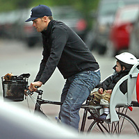 Tom Brady and son John Moynahan, in and around Boston.