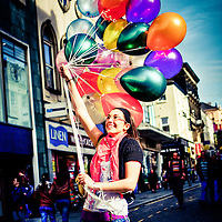 This girl was taking some balloons to her friends birthday on Bold St.