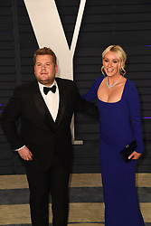 Vanity Fair Oscar Party on February 24, 2019 in Los Angeles, California. Photo: imageSPACE. 24 Feb 2019 Pictured: James Corden and Julia Carey. Photo credit: imageSPACE / MEGA TheMegaAgency.com +1 888 505 6342