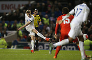 Duncan Watmore (Sunderland), England U21 scores a goal during the UEFA European Championship Under 21 2017 Qualifier match between England and Switzerland at the American Express Community Stadium, Brighton and Hove, England on 16 November 2015.