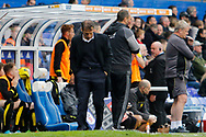 Birmingham City manager Gianfranco Zola looks despondent as his team are 2-0 at home to Burton Albion during the EFL Sky Bet Championship match between Birmingham City and Burton Albion at St Andrews, Birmingham, England on 17 April 2017. Photo by Richard Holmes.