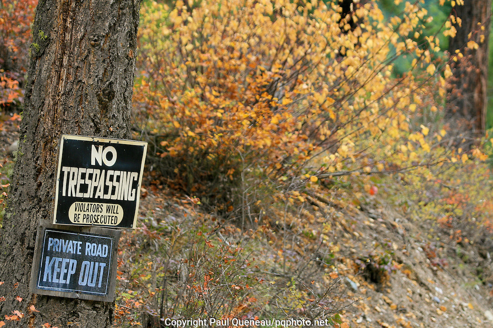 Private land in Montana off-limits to the public hunters and hikers.