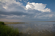 A thunderstorm passes over Cape Cod Bay on its way towards Provinctown.