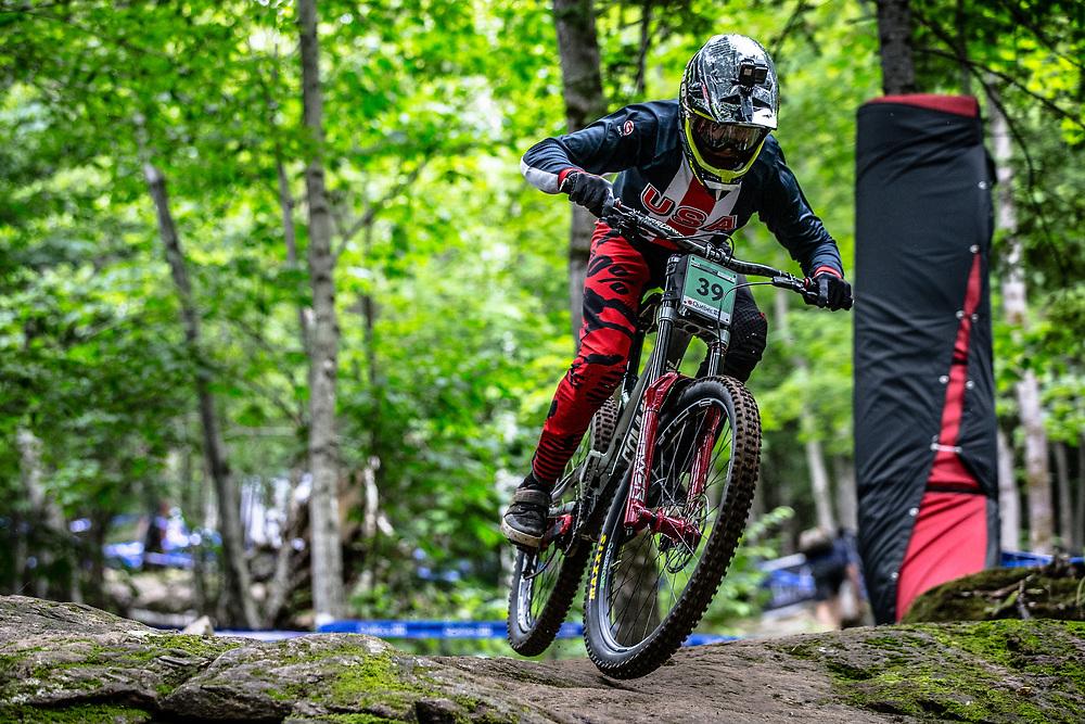 SILVA Dante (USA) at the Mountain Bike World Championships in Mont-Sainte-Anne, Canada.