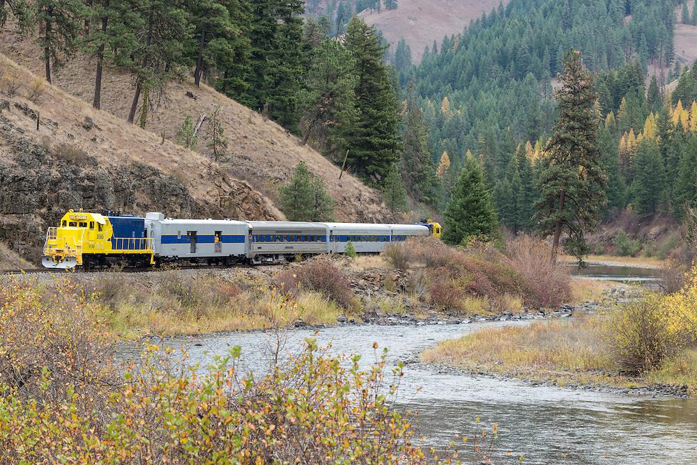 Eagle Cap Excursion Train in the Grande Ronde River Canyon in Northeast Oregon.