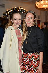 LONDON, ENGLAND 1 DECEMBER 2016: Left to right, Nicole Sabatini, Nina Flohr at the Smythson & Brown's Hotel Christmas Party held at Brown's Hotel, Albemarle St, Mayfair, London, England. 1 December 2016.