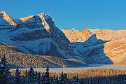 Hector Lake and the Waputik Range in the Canadian Rocky Mountains, Banff National Park, Alberta, Canada