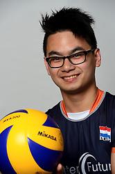 09-05-2014 NED: Selectie Nederlands zitvolleybal team mannen, Leersum<br /> In sporthal De Binder te Leersum werd het Nederlands team zitvolleybal seizoen 2014-2015 gepresenteerd / Timo Mans