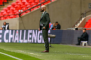 Cray Valley Manager Kevin Watson during the FA Vase final match between Chertsey Town and Cray Valley at Wembley Stadium, London, England on 19 May 2019.