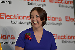 SCOTTISH PARLIAMENTARY ELECTION 2016 – Kezia Dugdale Scottish Labour Party at the Royal Highland Centre, Edinburgh for the counting of votes and declaration of results.<br />(c) Brian Anderson | Edinburgh Elite media