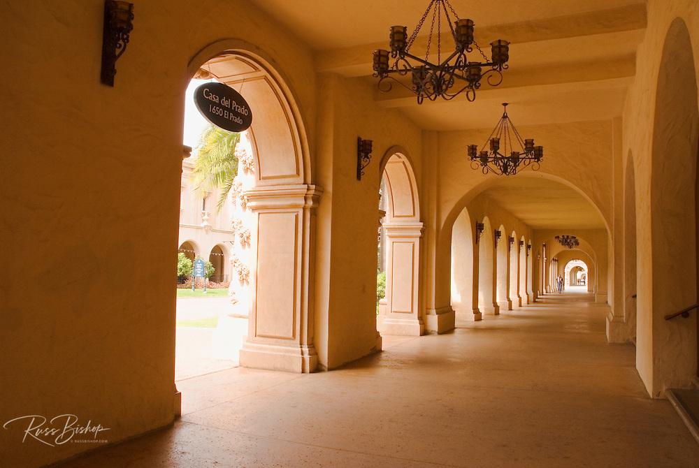 Walkway at El Prado in Balboa Park, San Diego, California