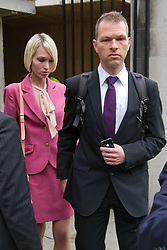 © London News Pictures. 02/05/2012. London, UK. Ceri Subbe, Gareth Williams sister (left) leaving Westminster Coroner's Court in London on May 2, 2012 on the final day of an inquest in to the death of British codebreaker Gareth Williams, who was found in a padlocked holdall bag in an empty bath in his Pimlico flat. The  coroner gave a narrative verdict ruling that Williams was unlawfully killed by a third party 'on the balance of probabilities'. Photo credit : Ben Cawthra /LNP