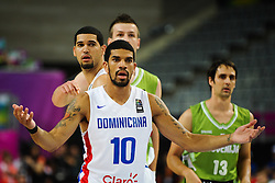 James Feldeine of Dominican Republic during basketball match between National Teams of Slovenia and Dominican Republic in Eight-finals of FIBA Basketball World Cup Spain 2014, on September 6, 2014 in Palau Sant Jordi, Barcelona, Spain. Photo by Tom Luksys  / Sportida.com <br /> ONLY FOR Slovenia, France