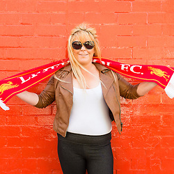 Anfield, Liverpool, UK. 15th April, 2014. <br /> Nicola Rolands came to Anfield to pay her respects to the 96 who died 25 years ago at Hillsborough.