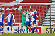 Blackburn Rovers defend a corner during the EFL Sky Bet Championship match between Middlesbrough and Blackburn Rovers at the Riverside Stadium, Middlesbrough, England on 24 January 2021.