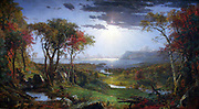 Autumn n the Hudson River, 1860, By Jasper Francis Cropsey (February 18, 1823 – April 23, 1900) American landscape artist of the Hudson River School