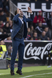 December 23, 2017 - Valencia, Spain - Marcelino Garcia Toral during the match between Valencia CF against Villarreal CF , week 17 of  La Liga 2017/18 at Mestalla stadium, Valencia, SPAIN - 17th December of 2017. (Credit Image: © Jose Breton/NurPhoto via ZUMA Press)