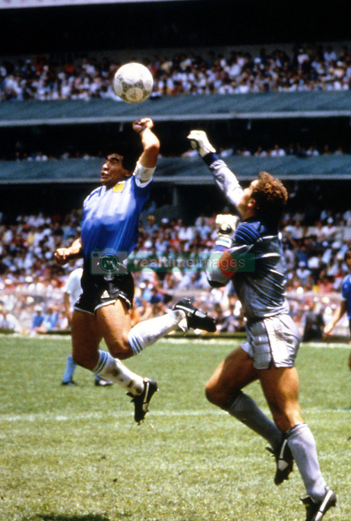 Apr 20, 2004; Buenos Aires, ARGENTINA; DIEGO MARADONA was in critical condition Monday, breathing with the help of a respirator but showing signs of improvement after heart and blood pressure problems. The former Argentine soccer star was hospitalized in the intensive care unit Sunday April 18, 2004, hours after watching his former team Boca Juniors play in the domestic league. It was the second time in recent years that the 43-year-old soccer great, who led Argentina to the 1986 World Cup title in Mexico, has been hospitalized. (FILE PHOTO).  (Credit Image: © FEP/Panoramic/ZUMAPRESS.com)