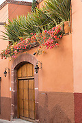 A Spanish colonial style homes in the historic center of San Miguel de Allende, Mexico.