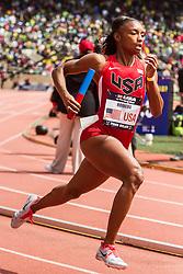 Penn Relays, USA vs the World, womens 4 x 400 meter relay, Shapri Romero, USA