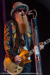 Billy Gibbons on stage as ZZ Top headlines at  Cycle Fest at Westworld during Arizona Bike Week. April 5, 2014.  Photography ©2014 Michael Lichter.
