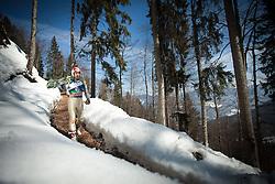 23.03.2013, Planica, Kranjska Gora, SLO, FIS Ski Sprung Weltcup, Skifliegen, Team, 1. Wertungsdurchgang, im Bild Robert Kranjec (SLO) // Robert Kranjec of Slovenia  before his 1st jump of the FIS Skijumping Worldcup Team Flying Hill, Planica, Kranjska Gora, Slovenia on 2013/03/23. EXPA Pictures © 2012, PhotoCredit: EXPA/ Juergen Feichter