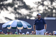 Shane Lowry (IRL) on the 1st tee during the 1st round at the The Masters , Augusta National, Augusta, Georgia, USA. 11/04/2019.<br /> Picture Fran Caffrey / Golffile.ie<br /> <br /> All photo usage must carry mandatory copyright credit (© Golffile | Fran Caffrey)