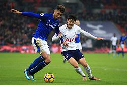 13 January 2018 -  Premier League - Tottenham Hotspur v Everton - Son Heung-min of Tottenham Hotspur in action with Mason Holgate of Everton - Photo: Marc Atkins/Offside