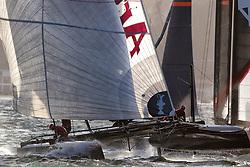 Fleet racing, Thursday October 4th. AC45 World Series San Francisco (Oct. 2-7).