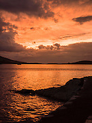 A beautifull autumnal sunset over Valentia Lighthouse in County Kerry last night..Picture by Don MacMonagle