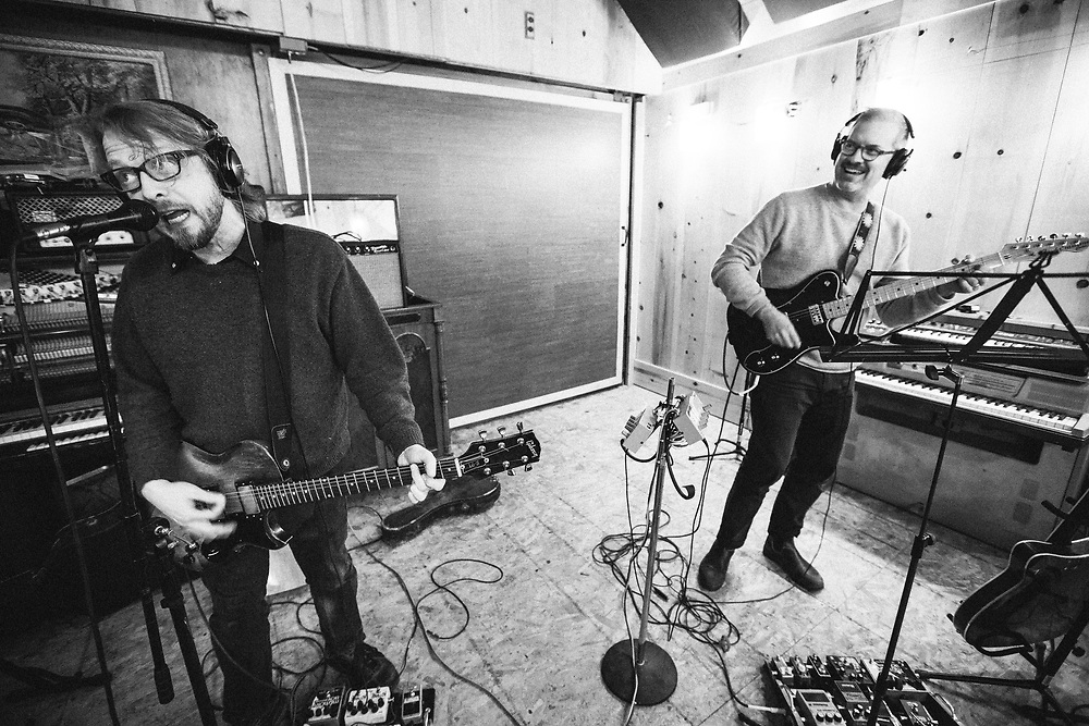 """Eyelids recording """"or"""" at Destination: Universe in Portland, OR. December 2016. Photo by Jason Quigley"""