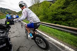 Riders in Koroska region  during 4th Stage from Prevalje to Dobrovnik, 190 km at Day 4 of DOS 2021 Charity event - Dobrodelno okrog Slovenije, on April 30, 2021, in Slovenia. Photo by Vid Ponikvar / Sportida