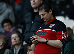 Bristol city fans- Photo mandatory by-line: Matt Bunn/JMP  - Tel: Mobile:07966 386802 19/04/2013 - Hull City v Bristol City - SPORT - FOOTBALL - Championship -  Hull- KC Stadium